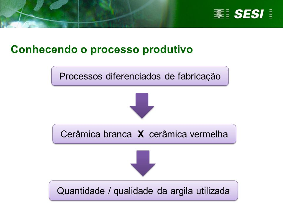 Conhecendo o processo produtivo