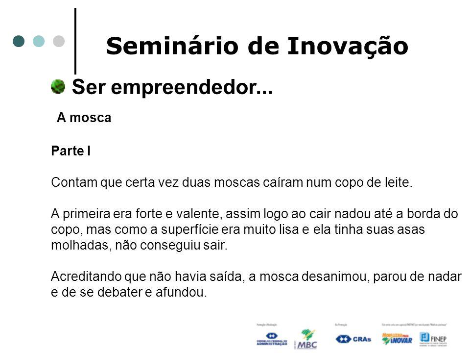 Seminário de Inovação Ser empreendedor... A mosca
