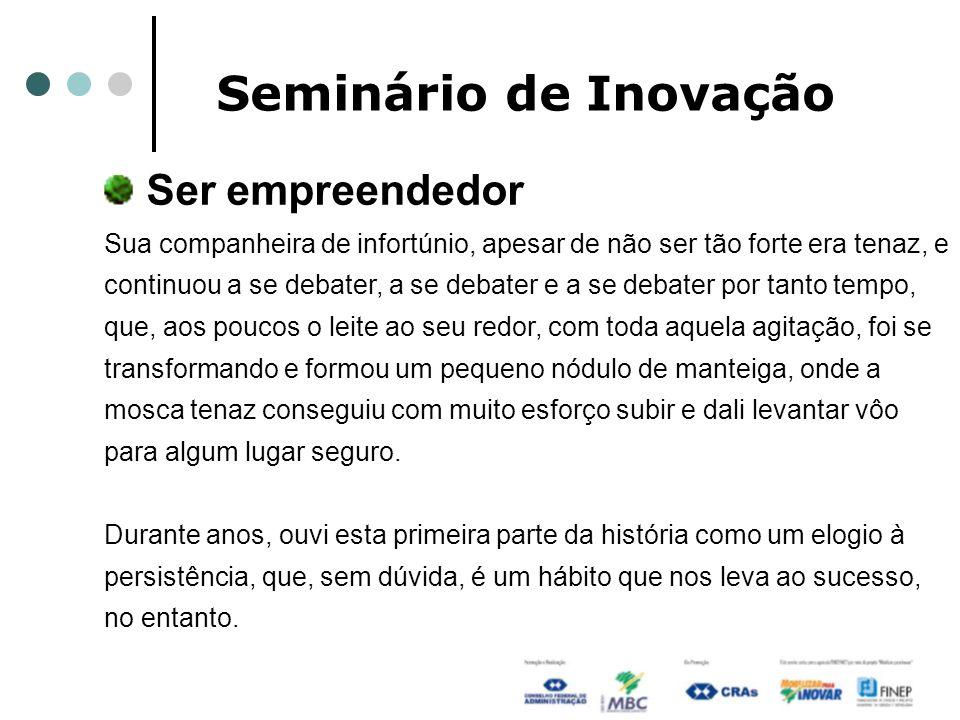 Seminário de Inovação Ser empreendedor