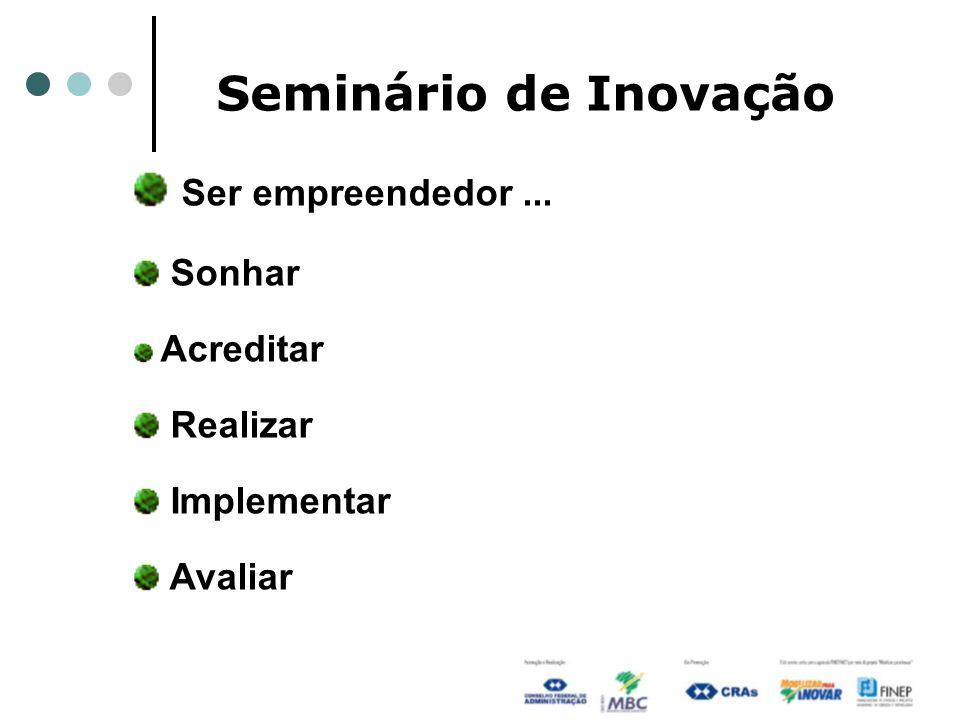 Seminário de Inovação Ser empreendedor ... Sonhar Realizar Implementar