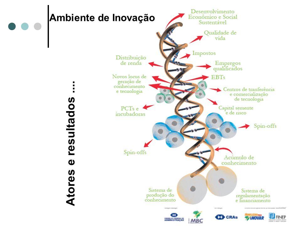 Ambiente de Inovação Atores e resultados ....