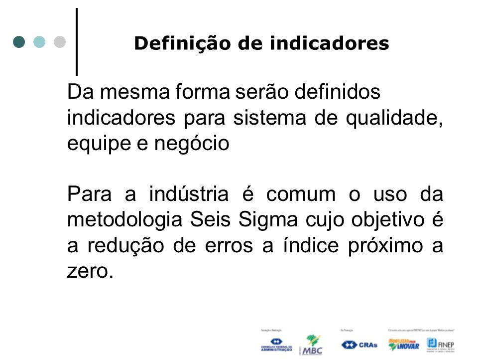 Definição de indicadores