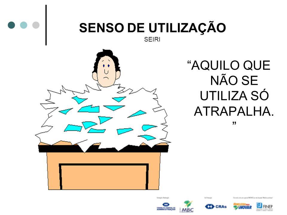 SENSO DE UTILIZAÇÃO SEIRI