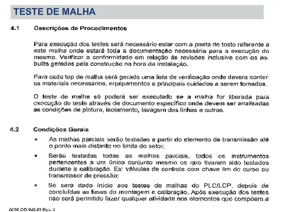 TESTE DE MALHA