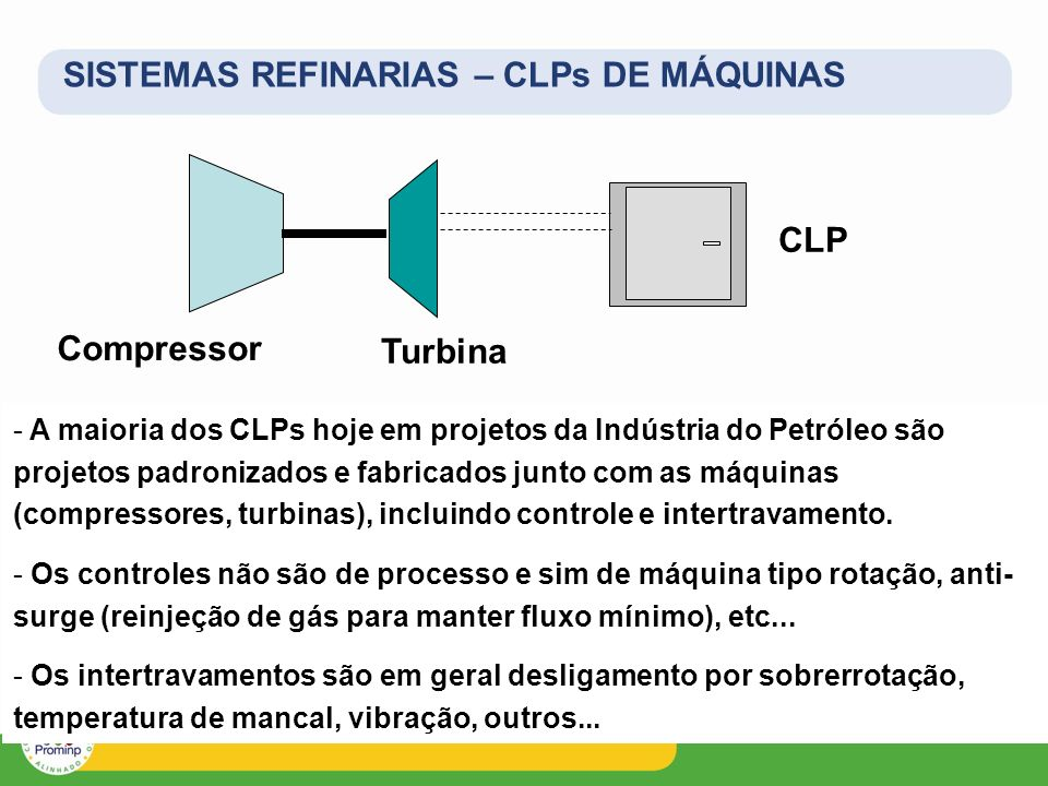 SISTEMAS REFINARIAS – CLPs DE MÁQUINAS