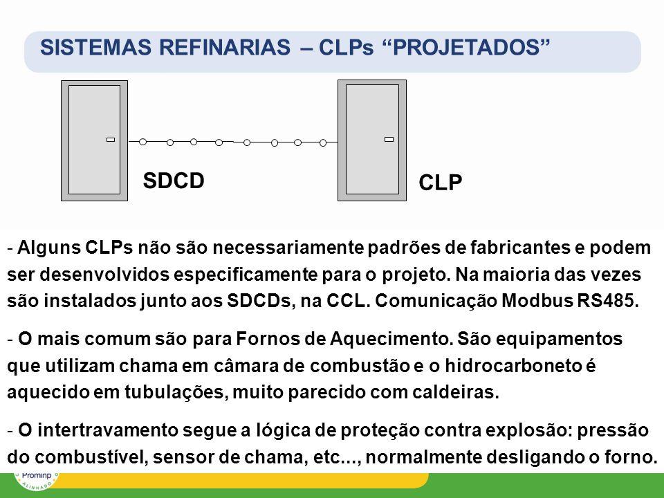 SISTEMAS REFINARIAS – CLPs PROJETADOS