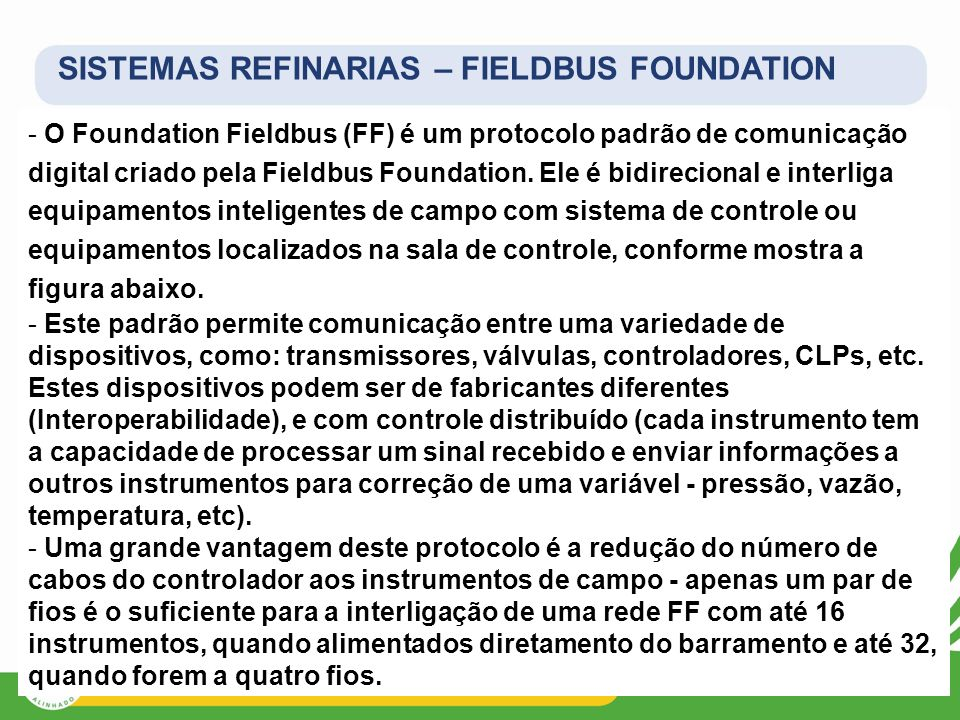 SISTEMAS REFINARIAS – FIELDBUS FOUNDATION