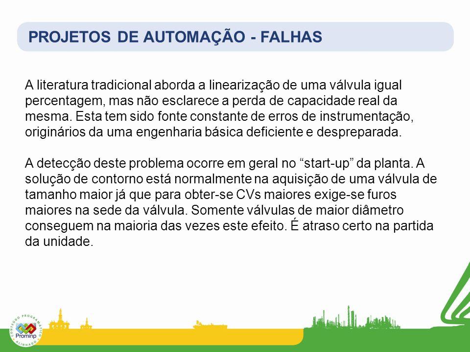 PROJETOS DE AUTOMAÇÃO - FALHAS