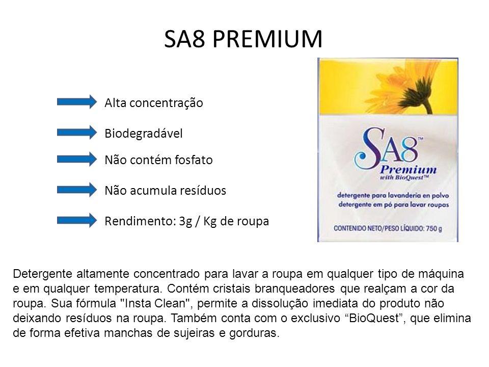SA8 PREMIUM Alta concentração Biodegradável Não contém fosfato