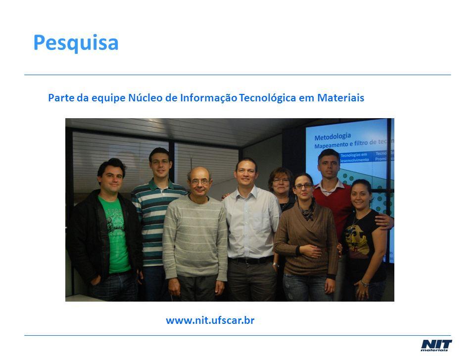 Parte da equipe Núcleo de Informação Tecnológica em Materiais