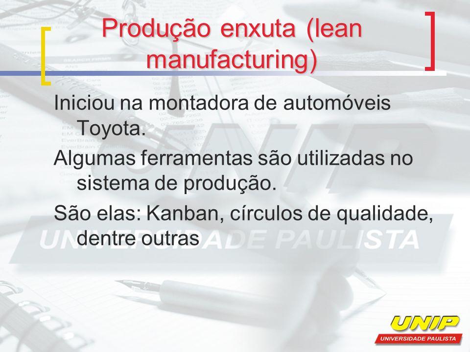 Produção enxuta (lean manufacturing)