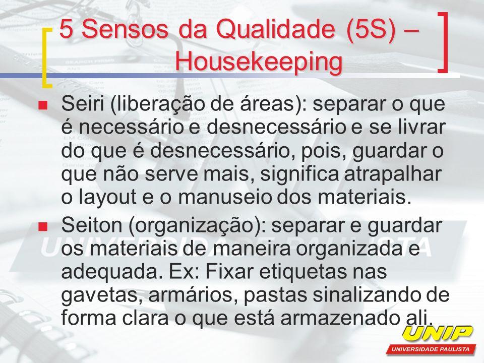 5 Sensos da Qualidade (5S) – Housekeeping