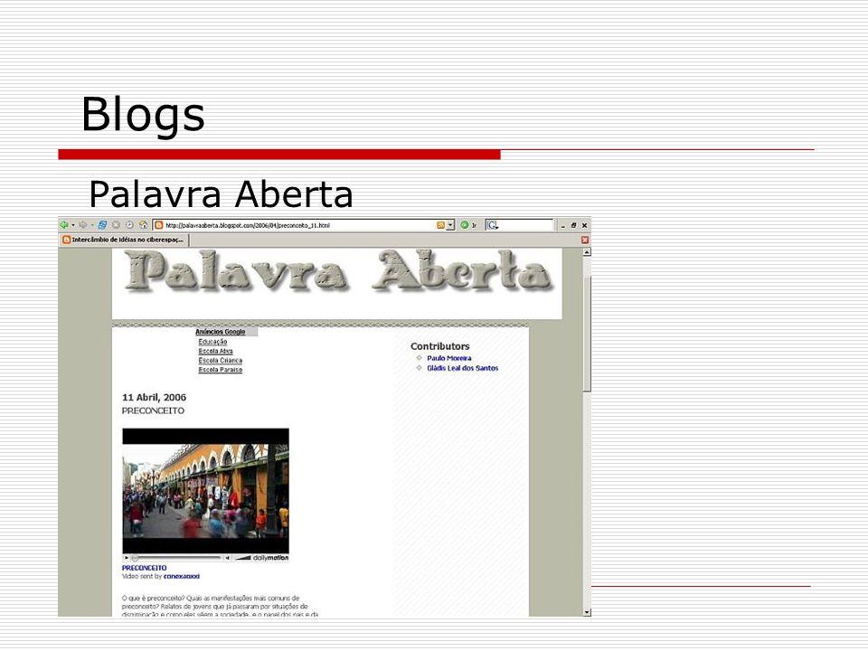 Blogs Palavra Aberta