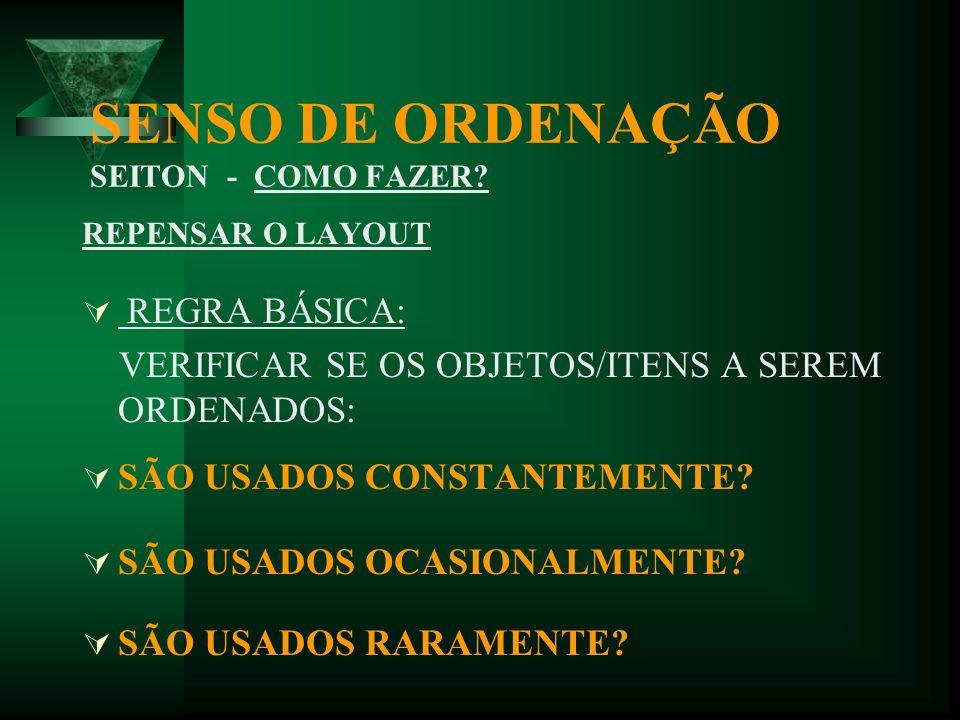 SENSO DE ORDENAÇÃO SEITON - COMO FAZER