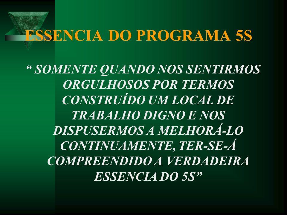 ESSENCIA DO PROGRAMA 5S