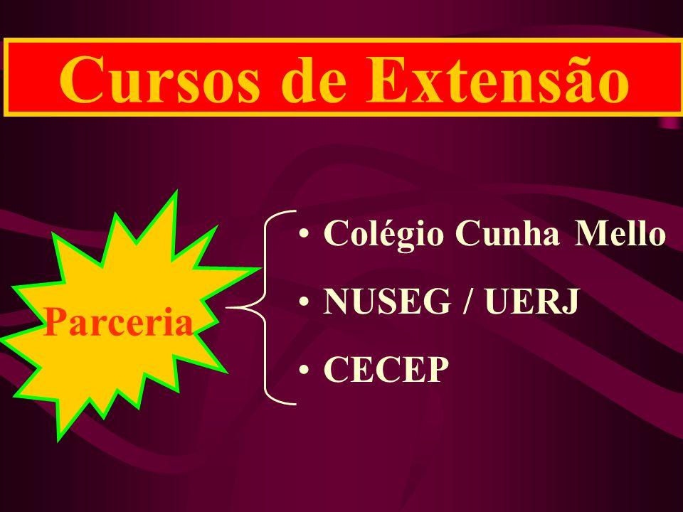 Cursos de Extensão Parceria Colégio Cunha Mello NUSEG / UERJ CECEP