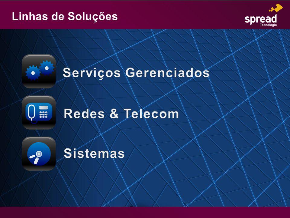 Linhas de Soluções Serviços Gerenciados Redes & Telecom Sistemas