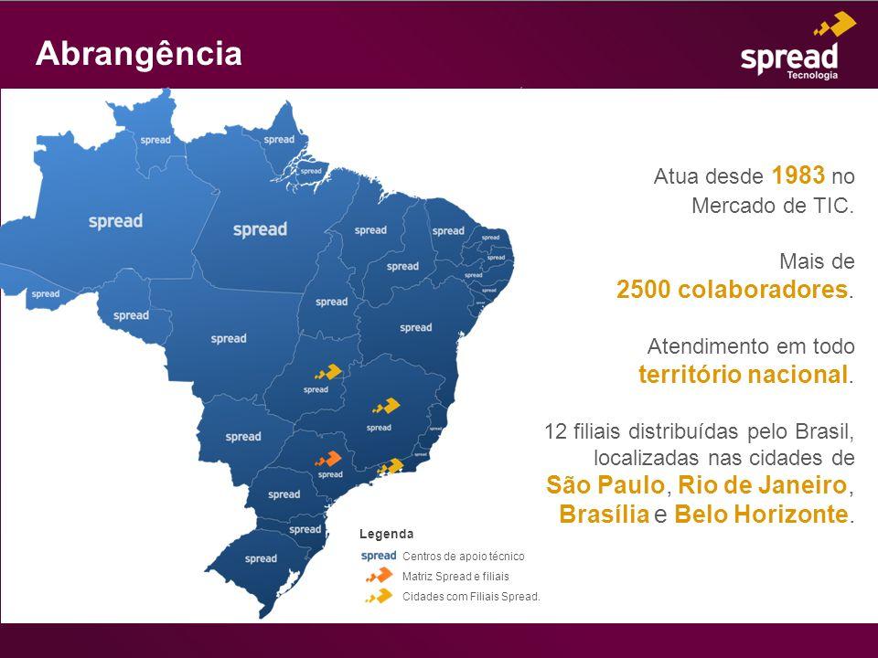Abrangência Mercado de TIC. 2500 colaboradores. território nacional.