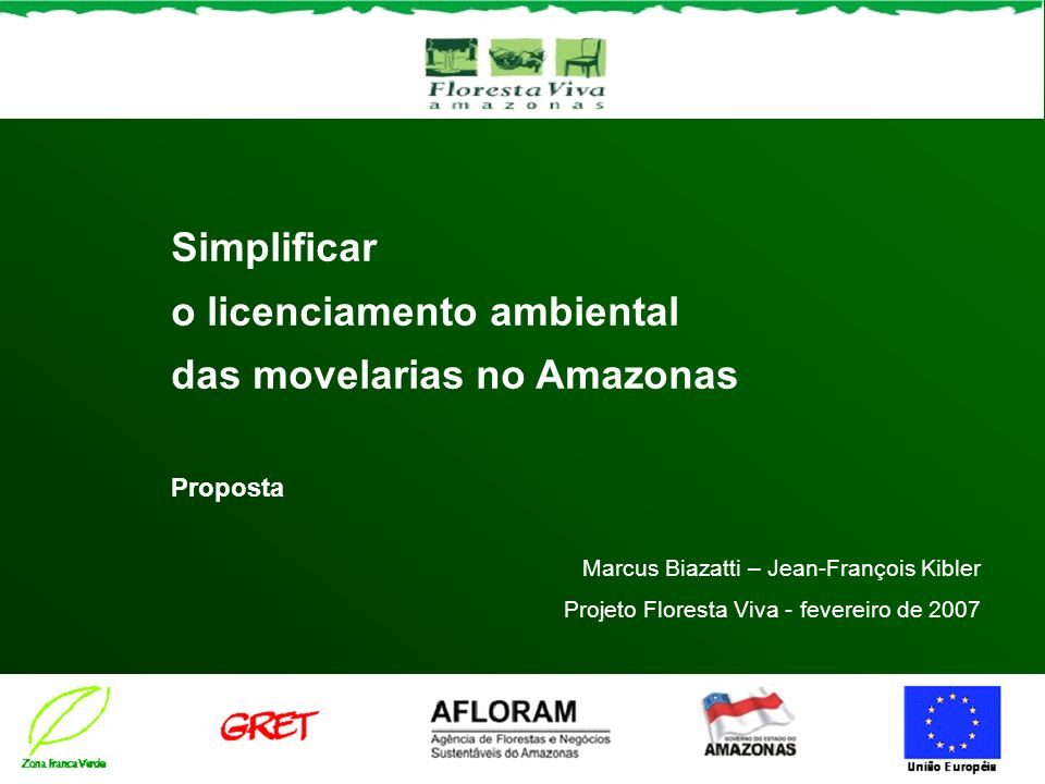 o licenciamento ambiental das movelarias no Amazonas
