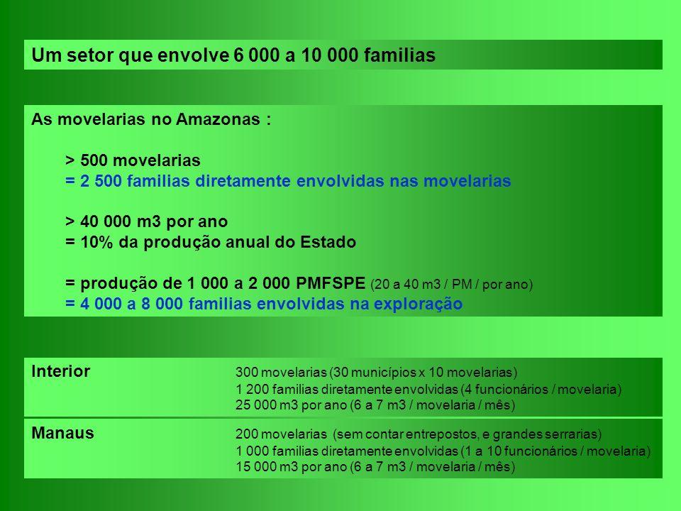 Um setor que envolve 6 000 a 10 000 familias