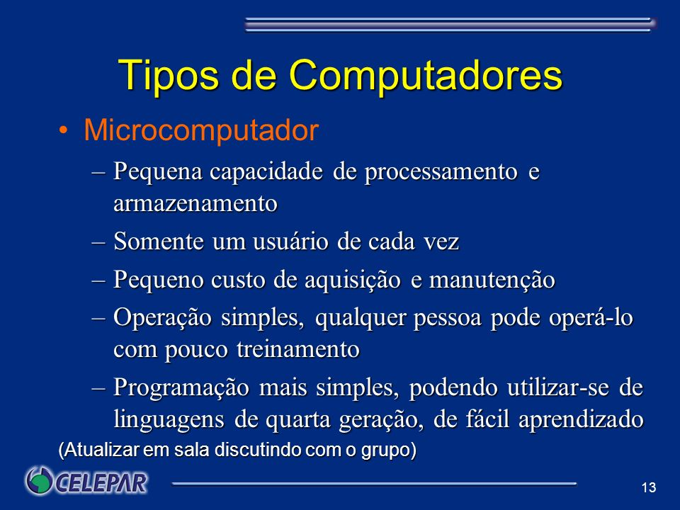 Tipos de Computadores Microcomputador