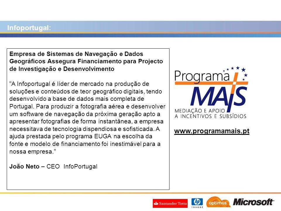Infoportugal: www.programamais.pt