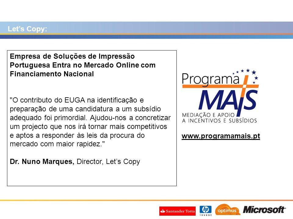 Let's Copy: Empresa de Soluções de Impressão Portuguesa Entra no Mercado Online com Financiamento Nacional.