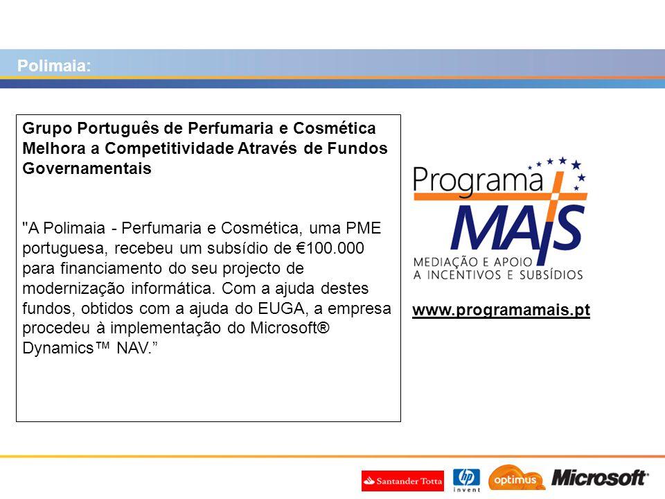 Polimaia: Grupo Português de Perfumaria e Cosmética Melhora a Competitividade Através de Fundos Governamentais.