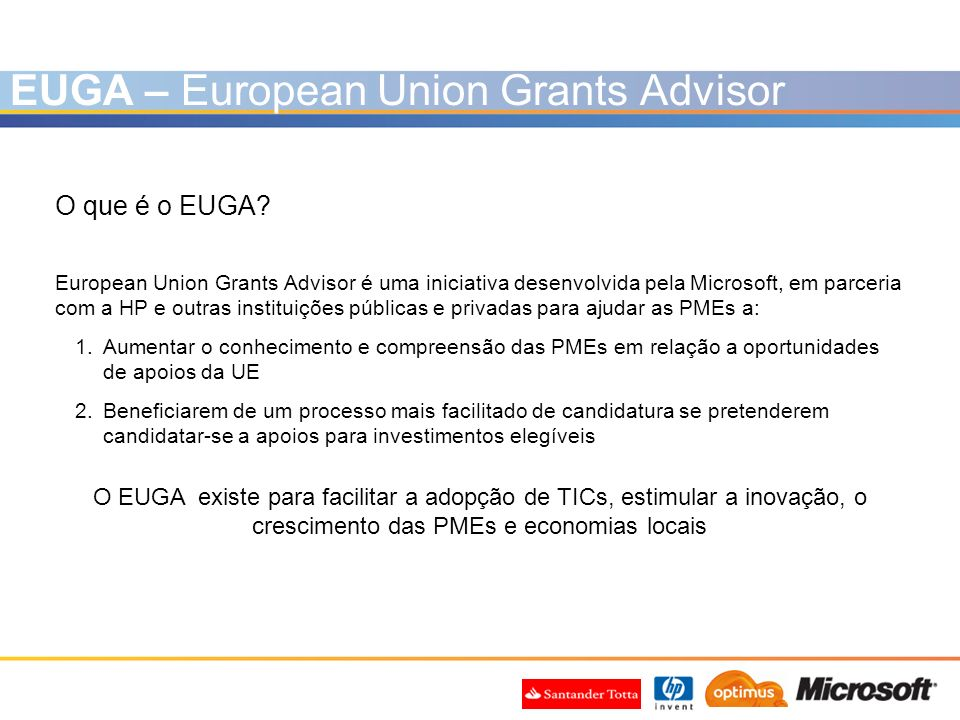 EUGA – European Union Grants Advisor