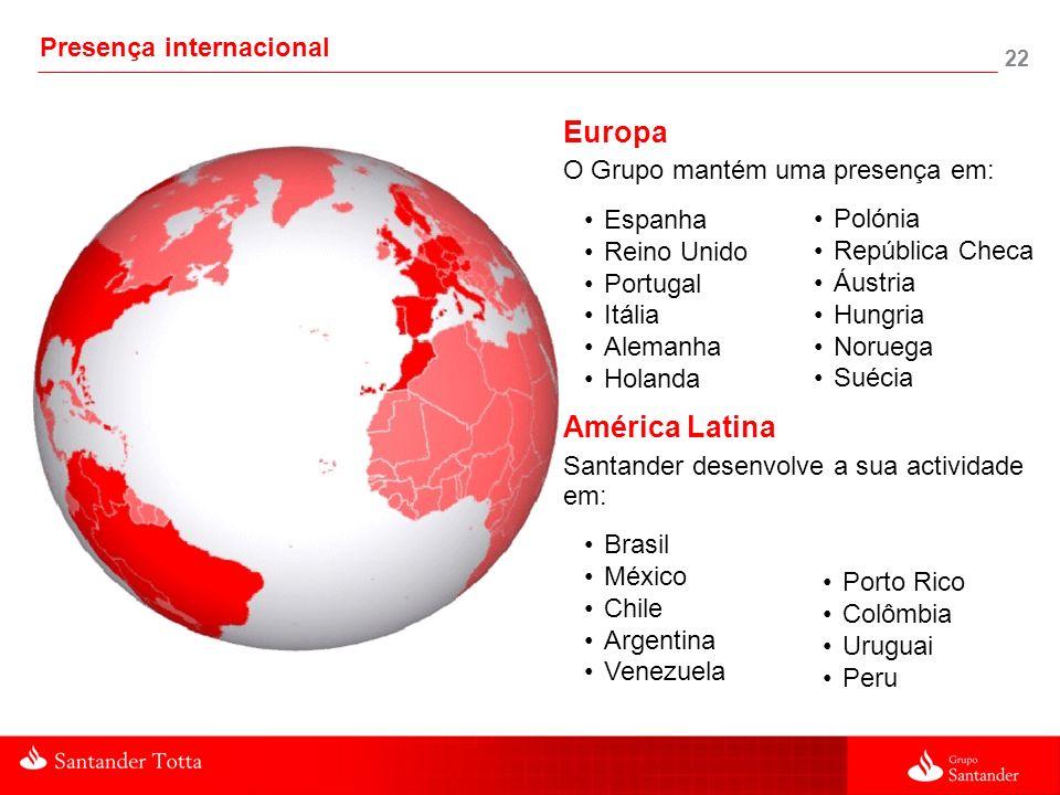 Europa América Latina Presença internacional