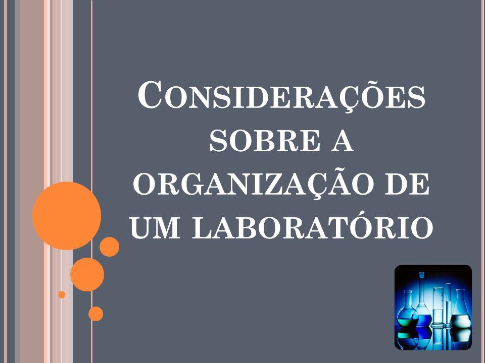 Considerações sobre a organização de um laboratório
