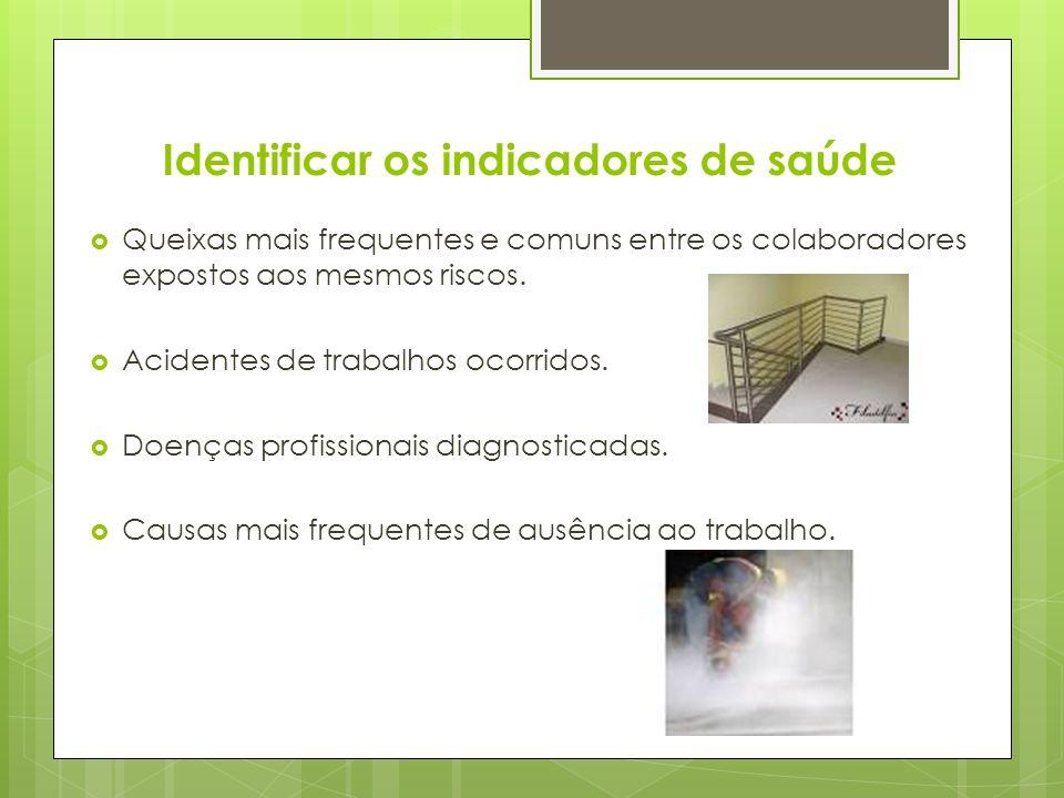 Identificar os indicadores de saúde