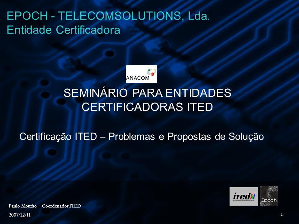 EPOCH - TELECOMSOLUTIONS, Lda. Entidade Certificadora