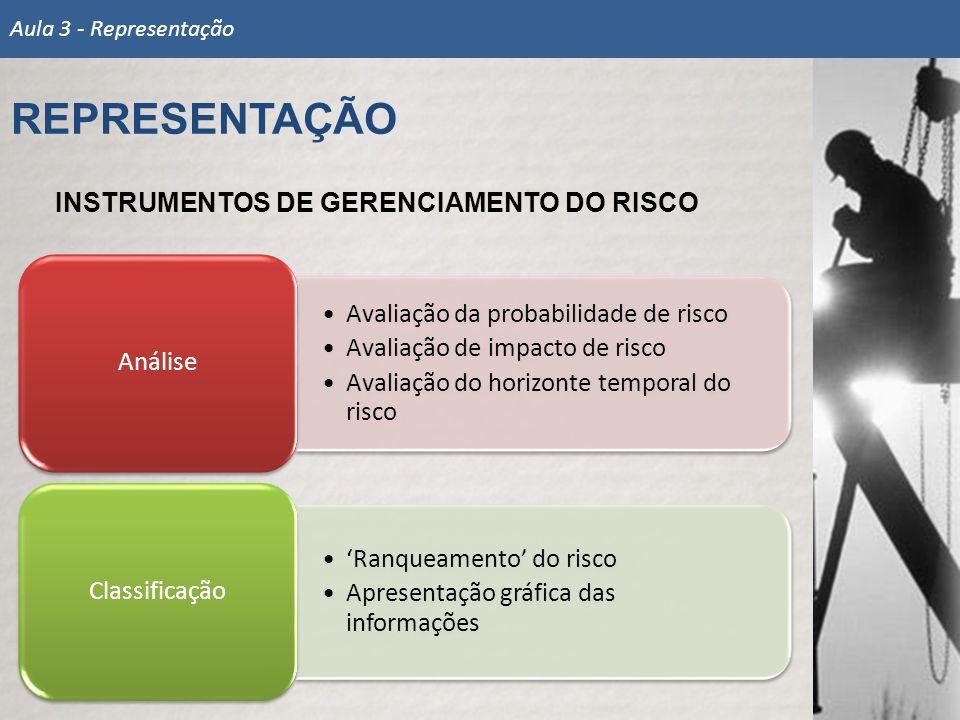 REPRESENTAÇÃO INSTRUMENTOS DE GERENCIAMENTO DO RISCO