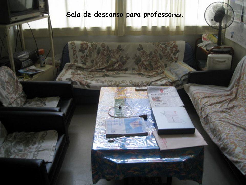Sala de descanso para professores.