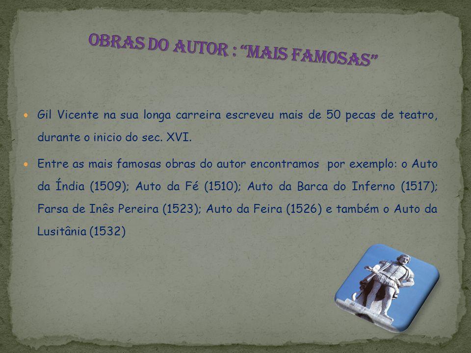 Obras do autor : mais famosas