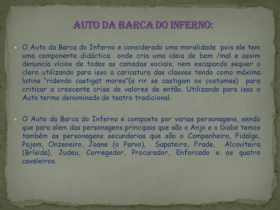 Auto da Barca do Inferno: