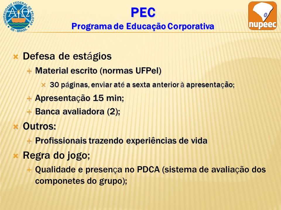 PEC Programa de Educação Corporativa