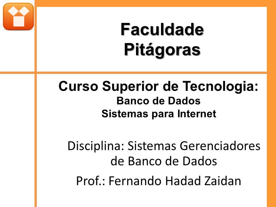 Curso Superior de Tecnologia: Sistemas para Internet