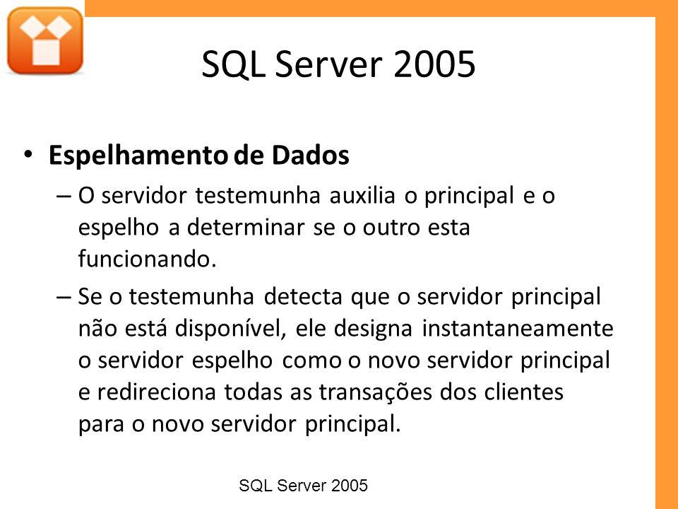 SQL Server 2005 Espelhamento de Dados