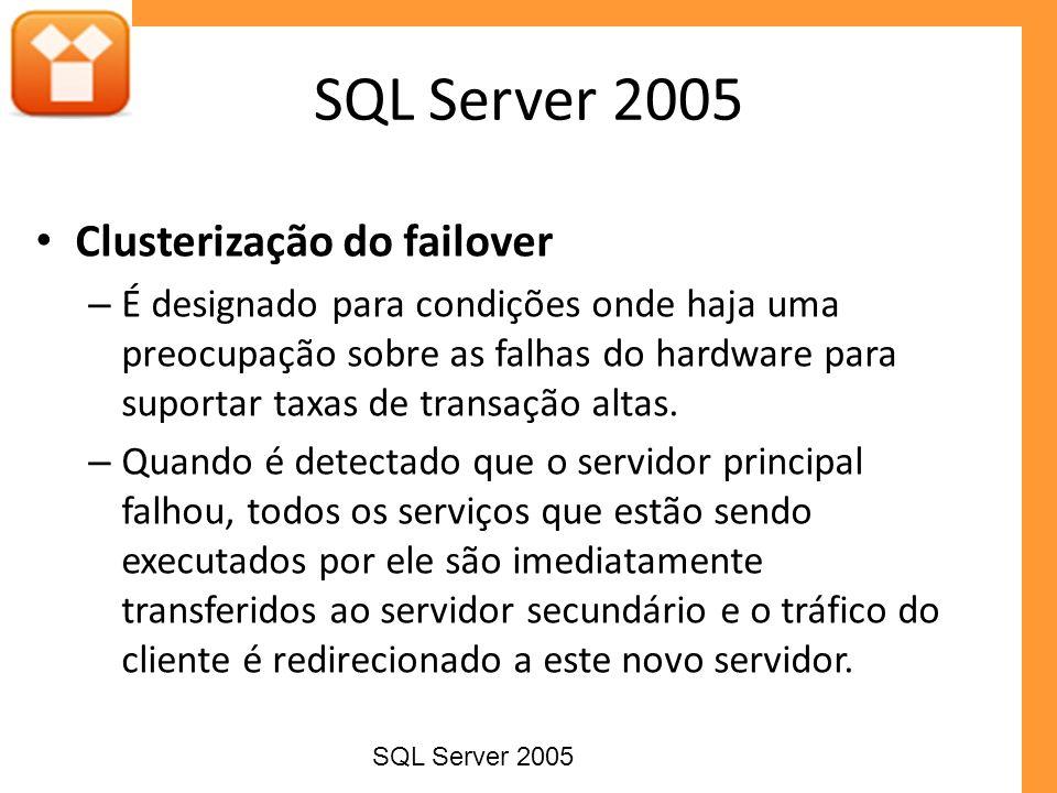 SQL Server 2005 Clusterização do failover