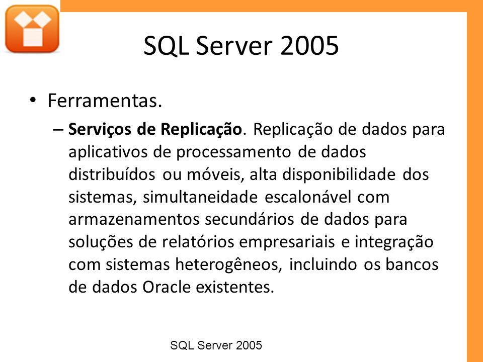 SQL Server 2005 Ferramentas.