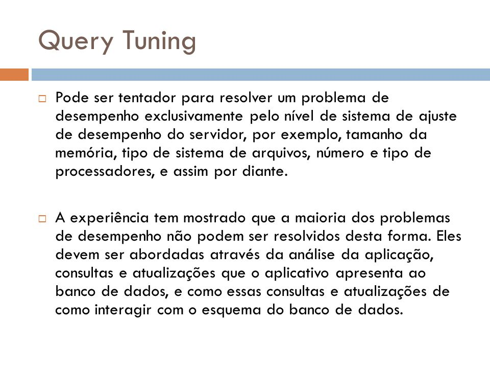 Query Tuning