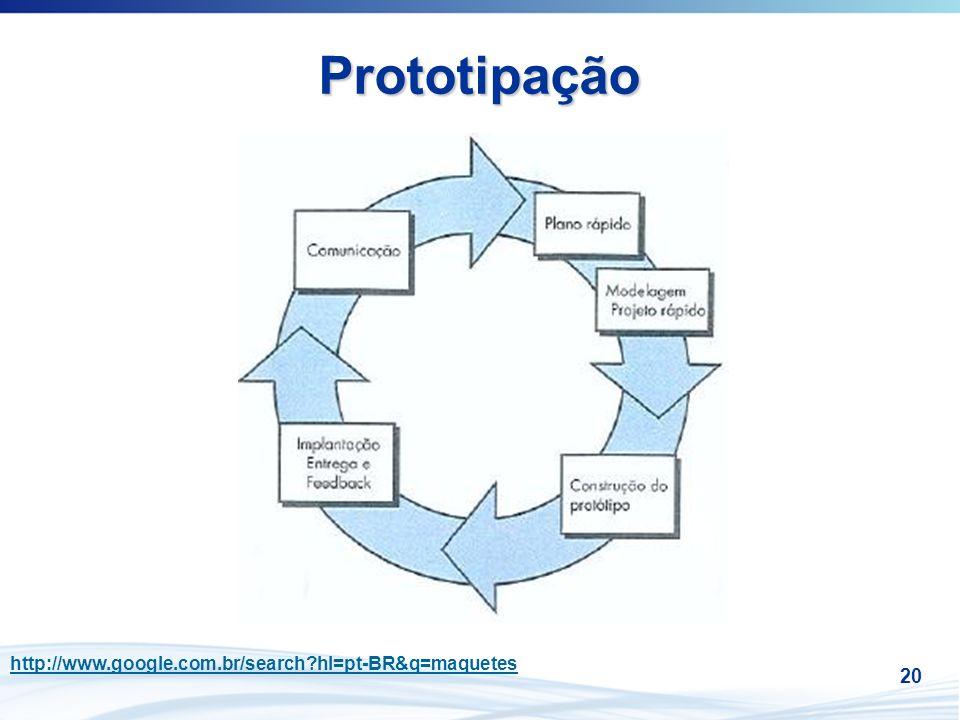 Prototipação http://www.google.com.br/search hl=pt-BR&q=maquetes 20