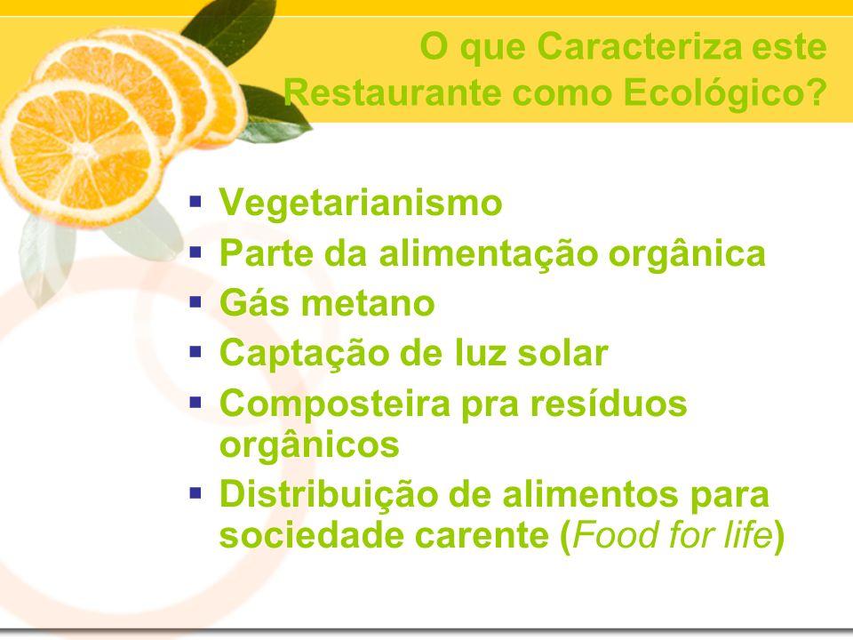 O que Caracteriza este Restaurante como Ecológico