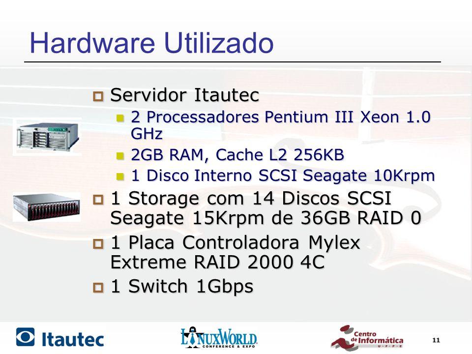 Hardware Utilizado Servidor Itautec