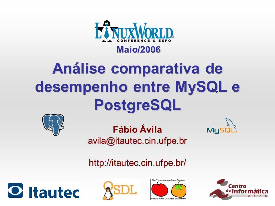 Análise comparativa de desempenho entre MySQL e PostgreSQL
