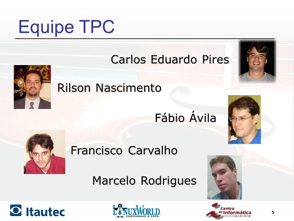 Equipe TPC Carlos Eduardo Pires Rilson Nascimento Fábio Ávila