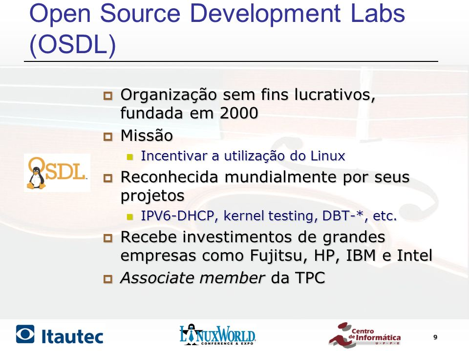 Open Source Development Labs (OSDL)