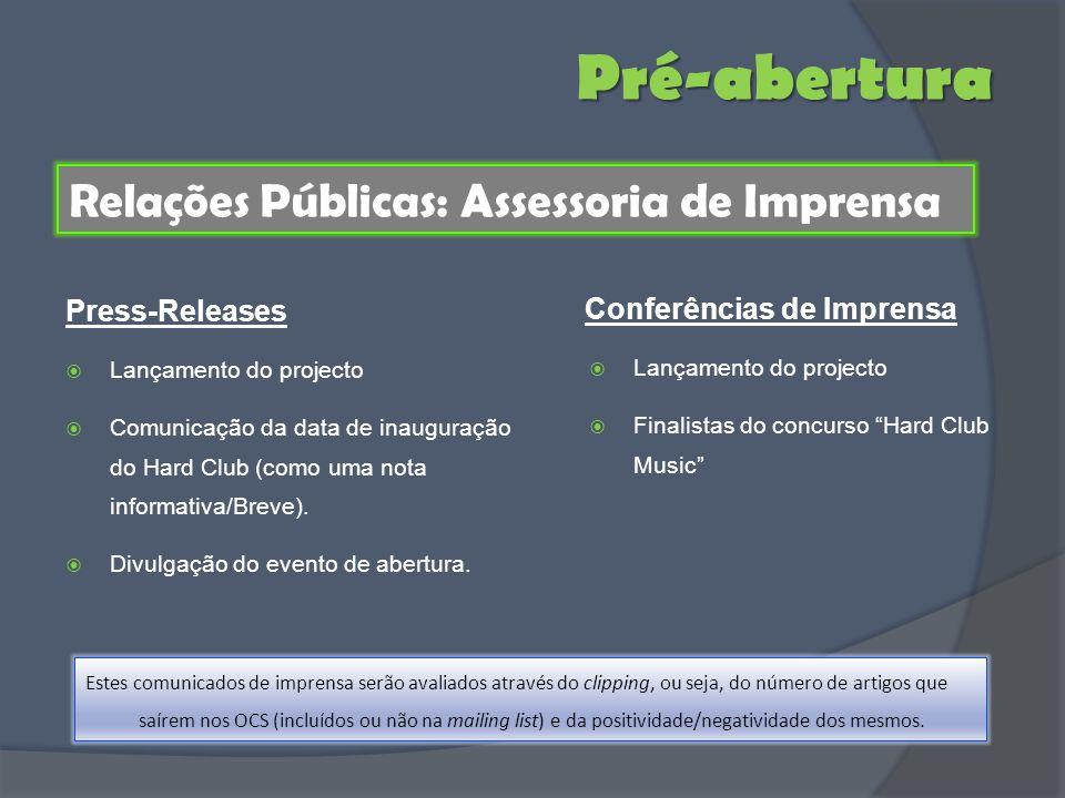 Pré-abertura Relações Públicas: Assessoria de Imprensa Press-Releases